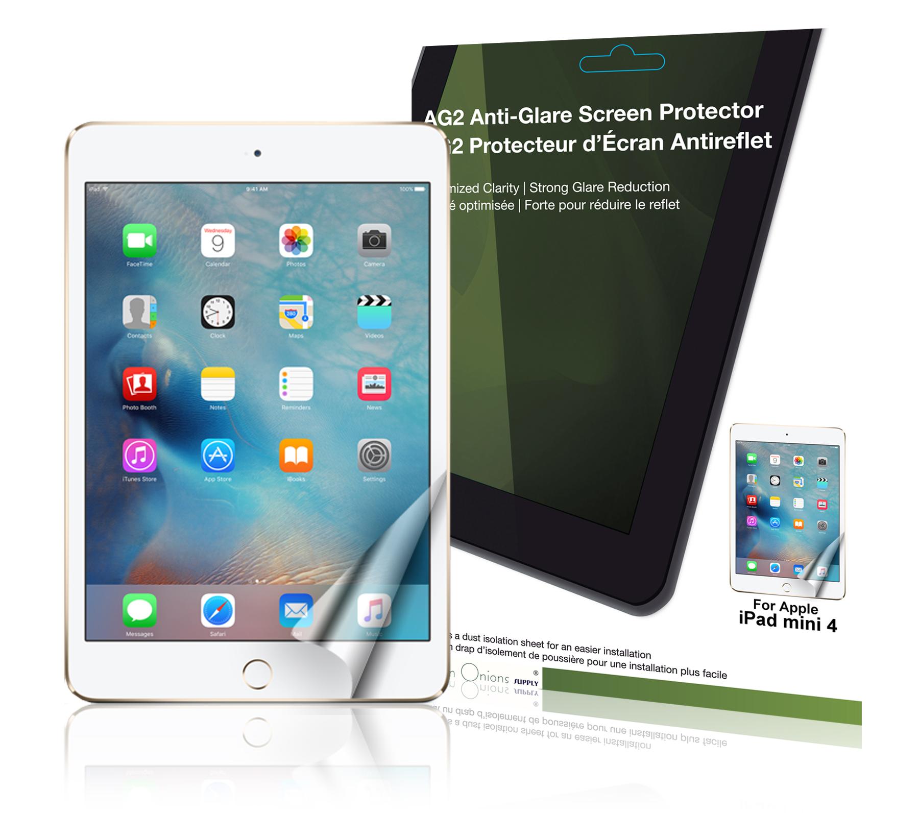 ag2 anti glare screen protector for apple ipad mini 4. Black Bedroom Furniture Sets. Home Design Ideas