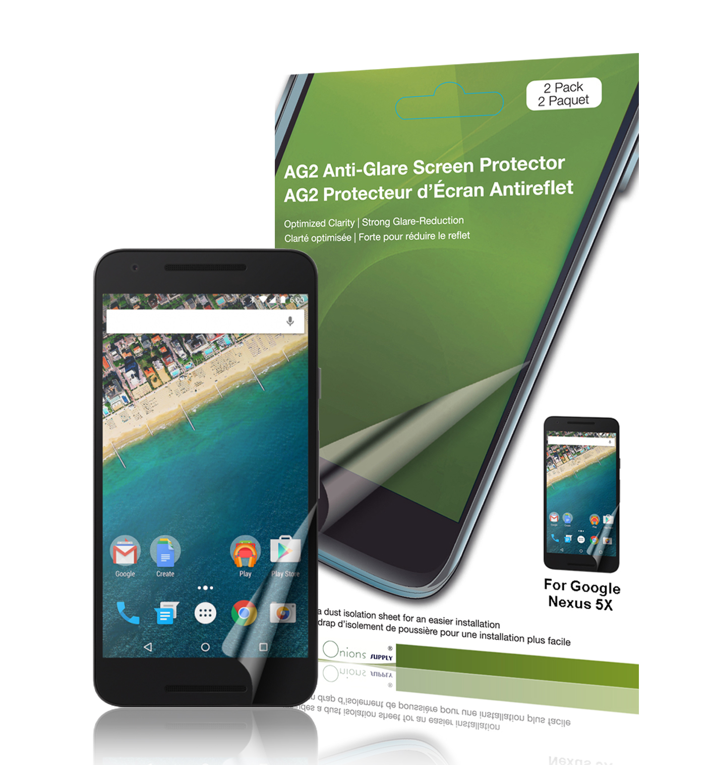 adding this olixar nexus 5x screen protector 2 in 1 pack about